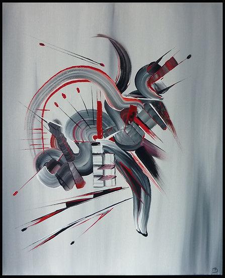 Peinture abstraite Démons de minuit