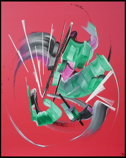 Peinture abstraite La bulle de Mya