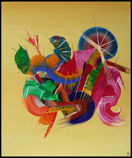 Tableau abstrait Musique | Peinture abstraite | Ma peinture sur toile