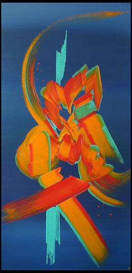 Peinture abstraite Miroir du coeur