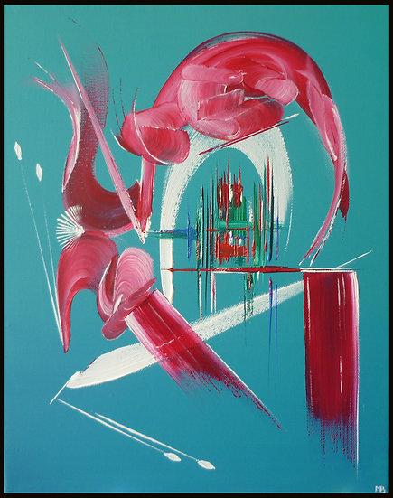 Peinture abstraite Secret d'âme