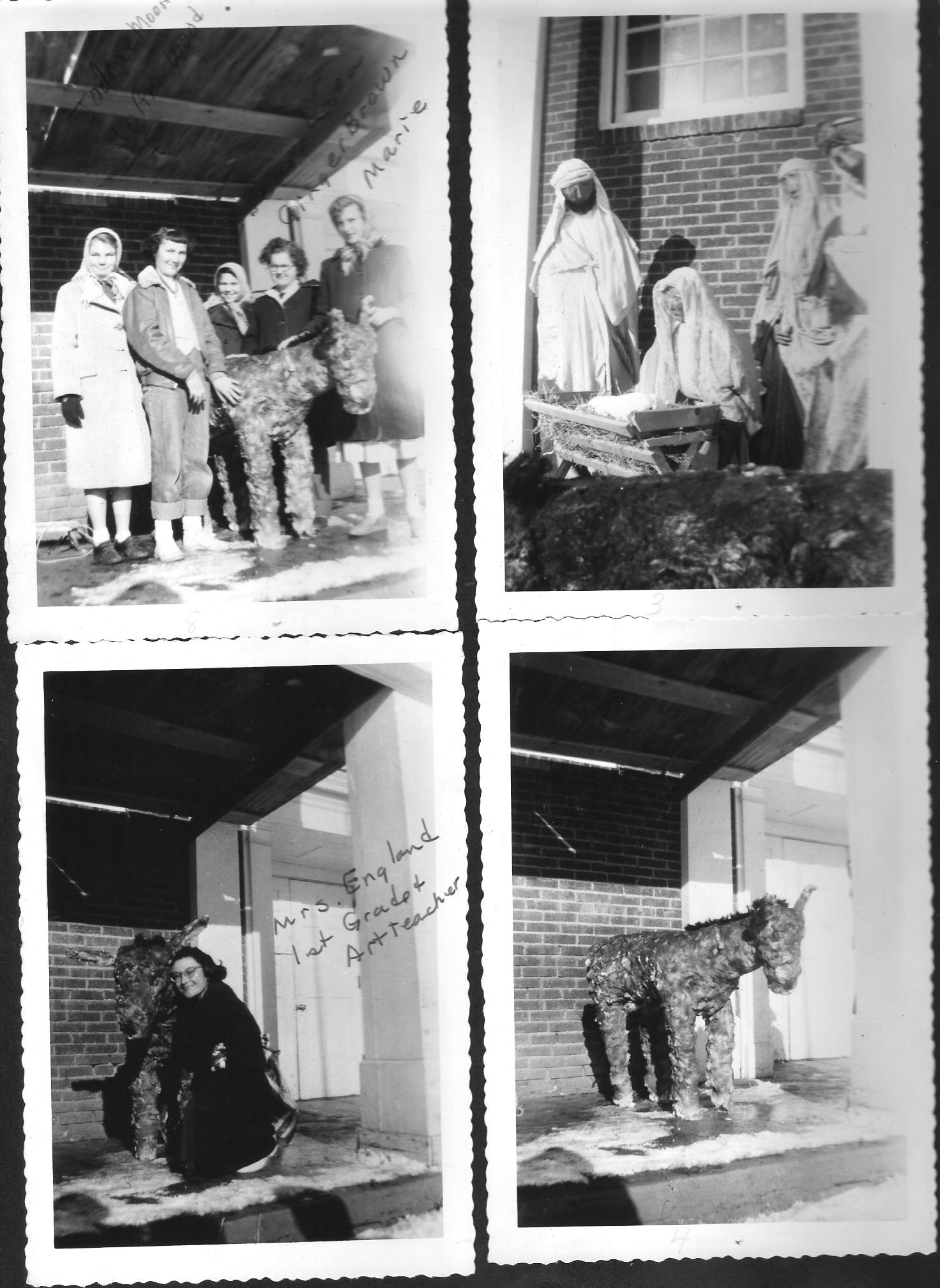 Preparing nativity animals