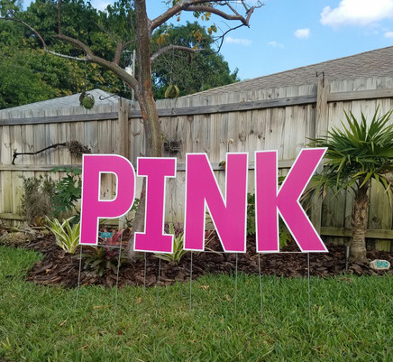 Pink Letters Available