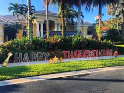 Thanksgiving Yard Card