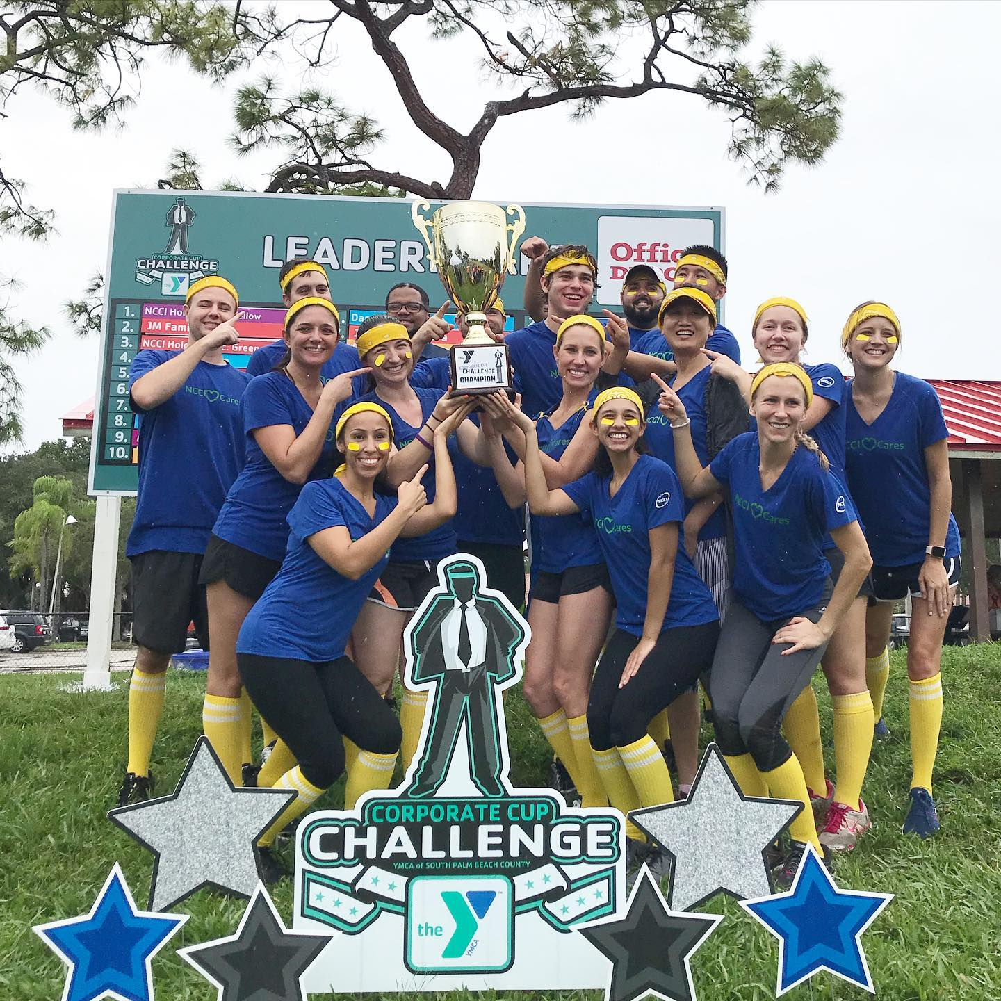 YMCA Corporate Cup Challenge 2019 winners Custom Yard Card