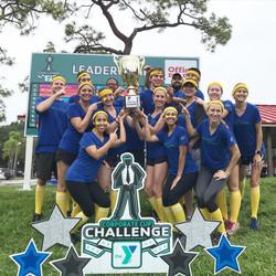 YMCA Corporate Cup Challenge 2019 winners Custom Yard Card