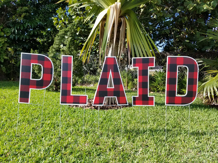 Buffalo Plaid Letter Available