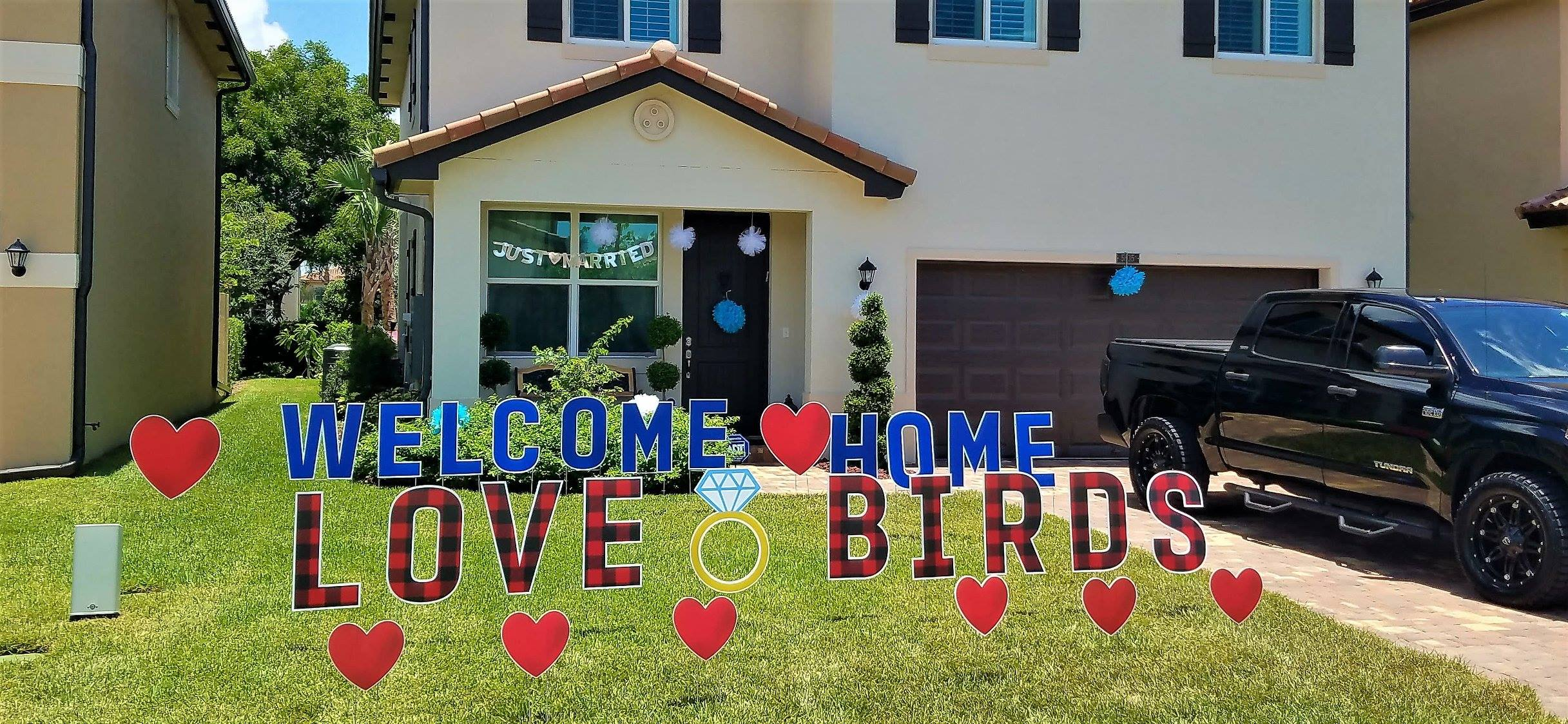 Welcome home from honeymoon