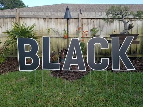 Black Letters Available
