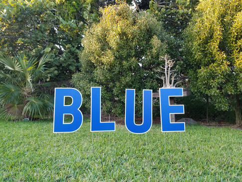 Blue Letters Available