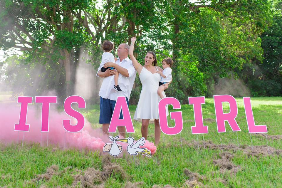 Its a Girl - Gender reveal photo