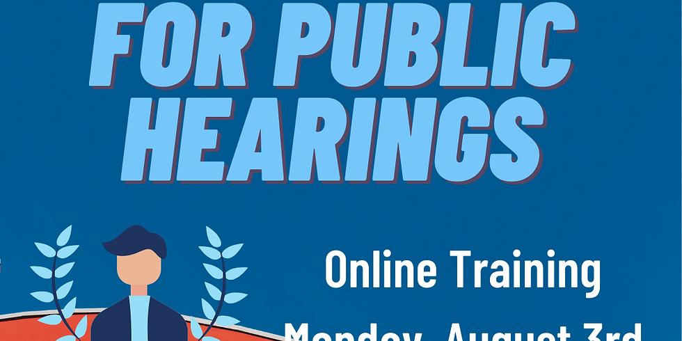 Redistricting: Prepping for Public Hearings and Legislative Meetings