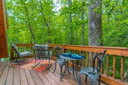 Private Deck Set Amoung the Trees
