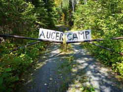 Auger camp sign