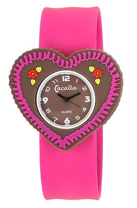 Schnapparmband-Uhr Wiesnherz