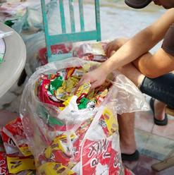Tri d'emballages de chips