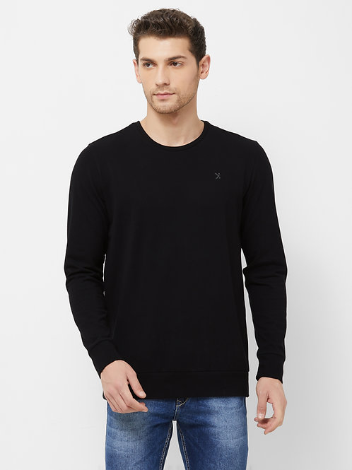 Long Sleeves Crew Neck T-Shirt (Heavy GSM Premium Stretch Cotton)