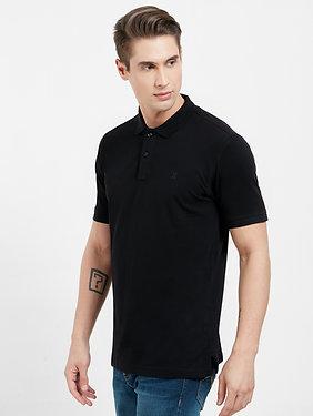 Polo Collar Slim Fit T-shirt (Premium Stretch Cotton)