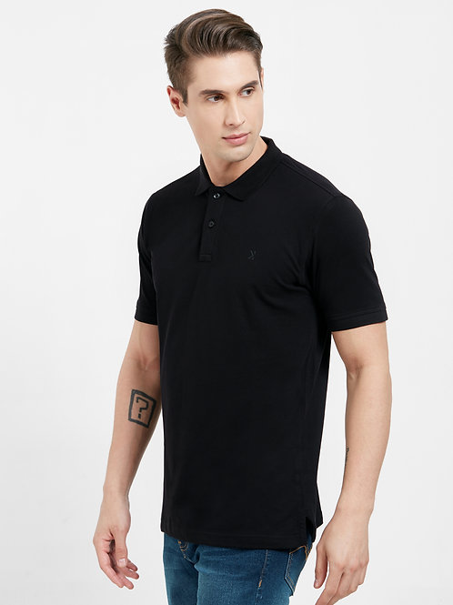 Polo Collar Slim Fit T-shirt (Premium Stretch Cotton)