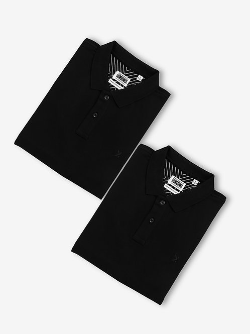 Polo Collar T-shirt Combo (Pack of 2 Units)