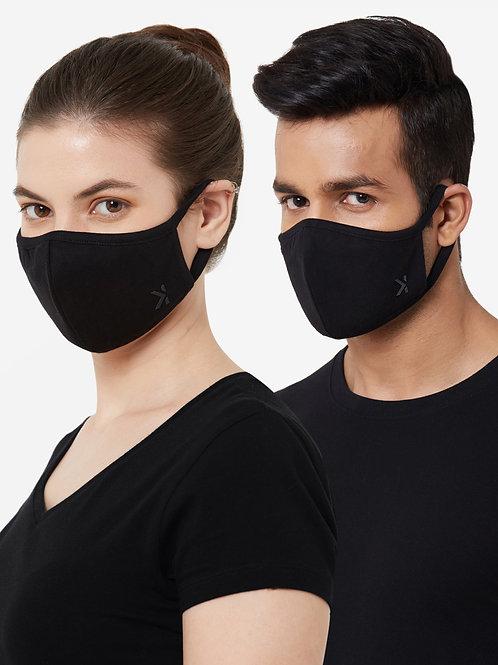 3 Layered Anti-Microbial, Anti-Viral Premium Stretch Cotton Mask (Pack of 3)