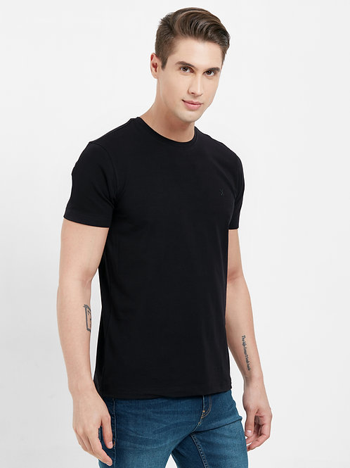 Round Neck Slim Fit T-shirt (Premium Stretch Cotton)