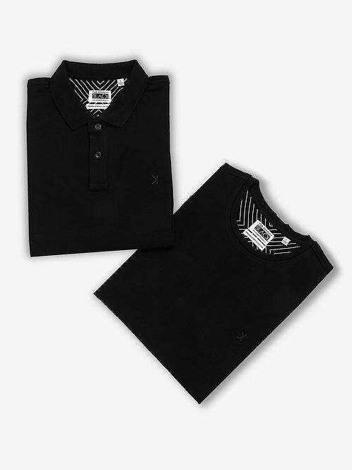 Round + Polo T-shirt Combo (Pack of 2 Units)