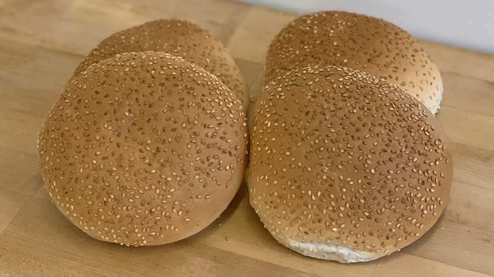 Pack 4x Large Sesame Baps