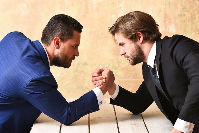 Opposition Of Businessmen, Arm Wrestling And Power, Business Situation.jpg