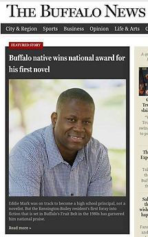 Buffalo News article | Eddie Mark wins Phillis Wheatley Award