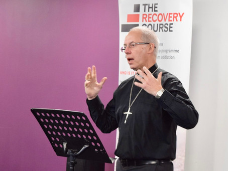 Archbishop Justin Welby Visits The Recovery Course