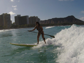 Crazy Woman Surfs All Day Every Day in Waikiki ...