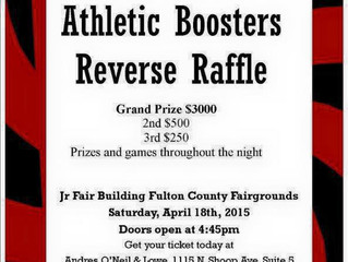 Athletic Booster Reverse Raffle Scheduled for April 18th