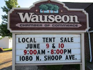 Wauseon Chamber Sponsoring Tent Sale