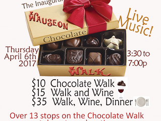 Remaining Tickets For The Wauseon Downtown Chocolate Walk On Sale Today At The Studio.