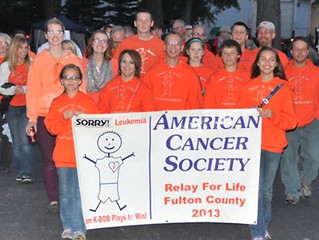 Relay for Life 2015 Scheduled for June 5th and 6th at the Fulton County Fairgrounds