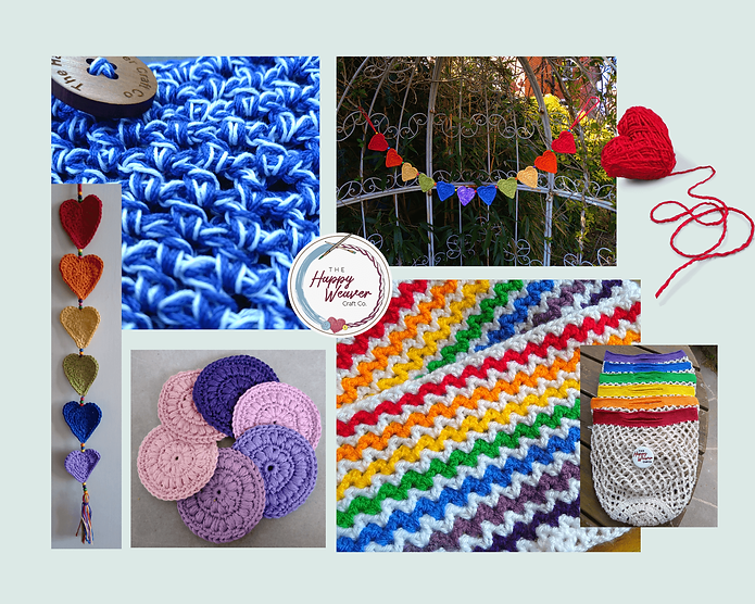 Beautiful, colourful crochet items for yourself and your home.