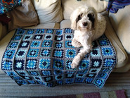 Blues granny square blanket