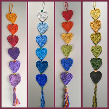 Boho Heart hangers