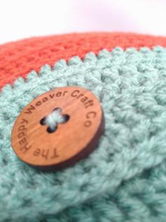Button detail on cushion