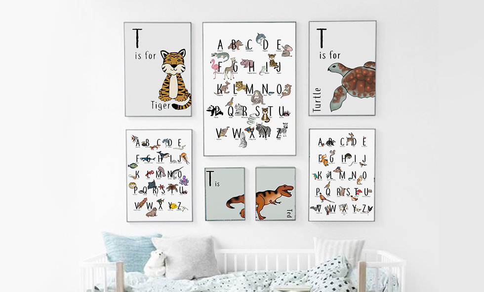 A collection of nursery frames