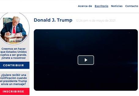 Trump lanzó su propia plataforma tras el veto de Facebook y Twitter