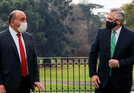 Manzur fue recibido por el Presidente Fernández en Olivos