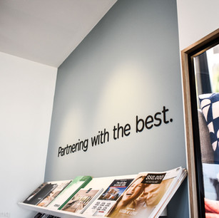 Office feature wall