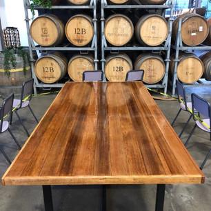 Timber table refinishing