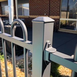 Charcoal pool fence