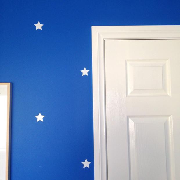 Kids bedroom in blue