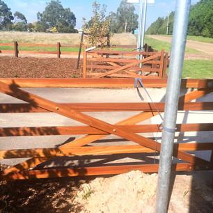 Farm gates oiled