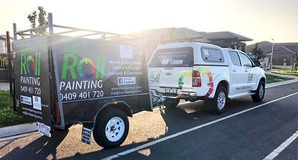 Let's Roll Painting work ute and trailer