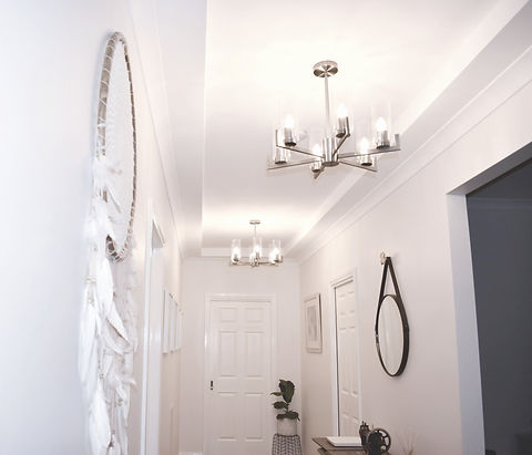 repainted hallway in dulux natural white